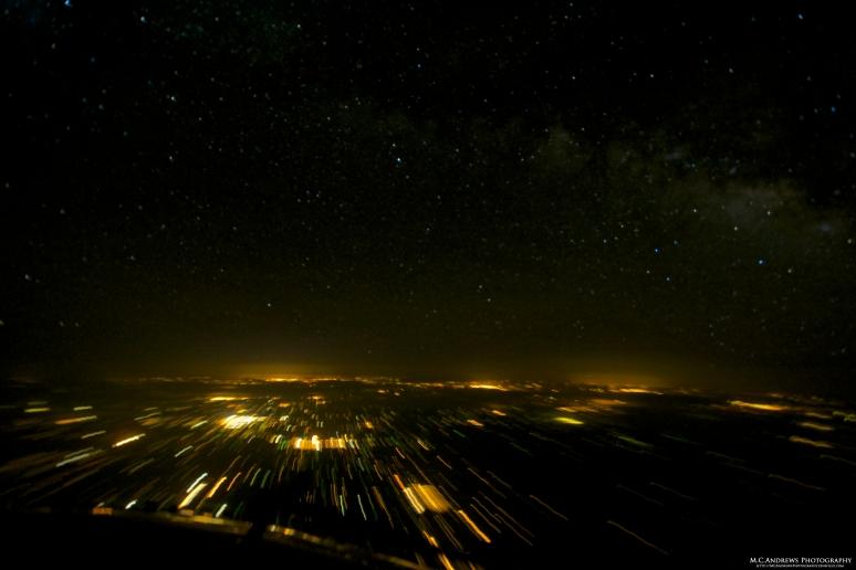 Night Lights and Milky Way