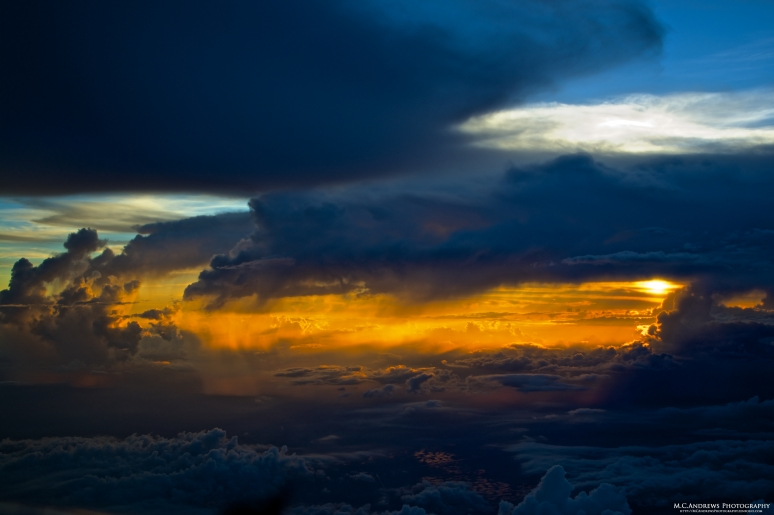Storms Dissipate over the Everglades at Sunset