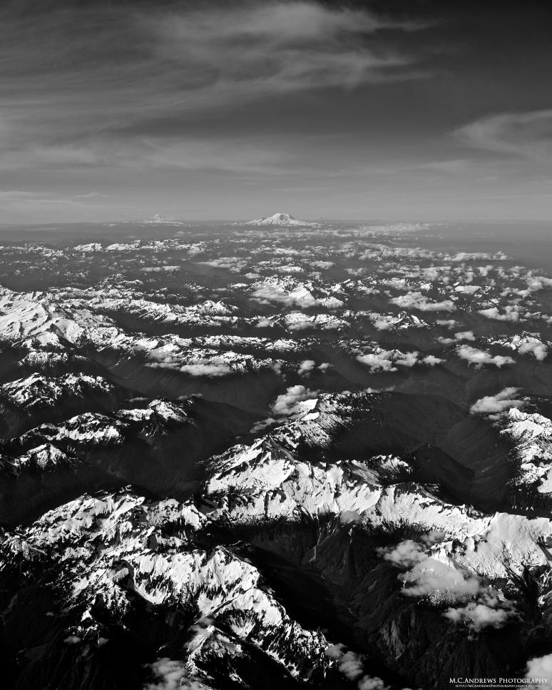 Cascades and Rainier BW