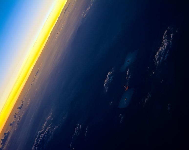 Ivanpah Solar Plant in Twilight