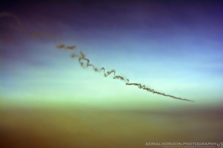 Turbulence Scrambled Contrails