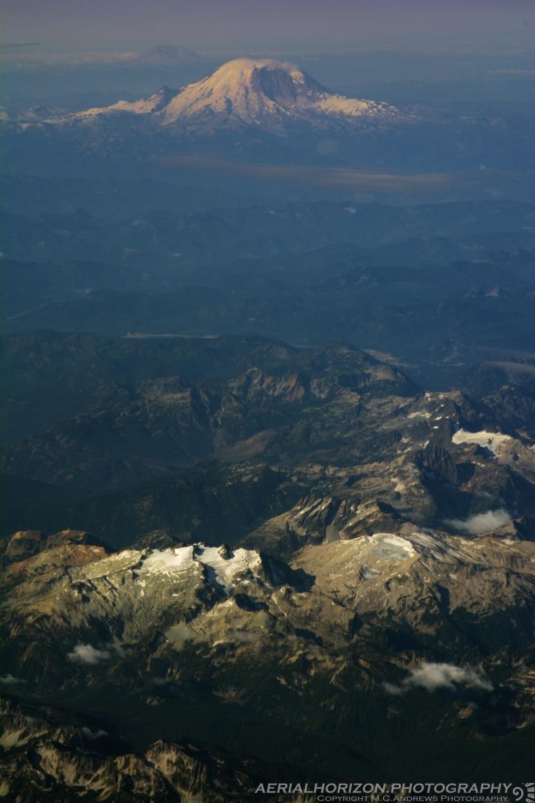 Cascades and Rainier - Long View