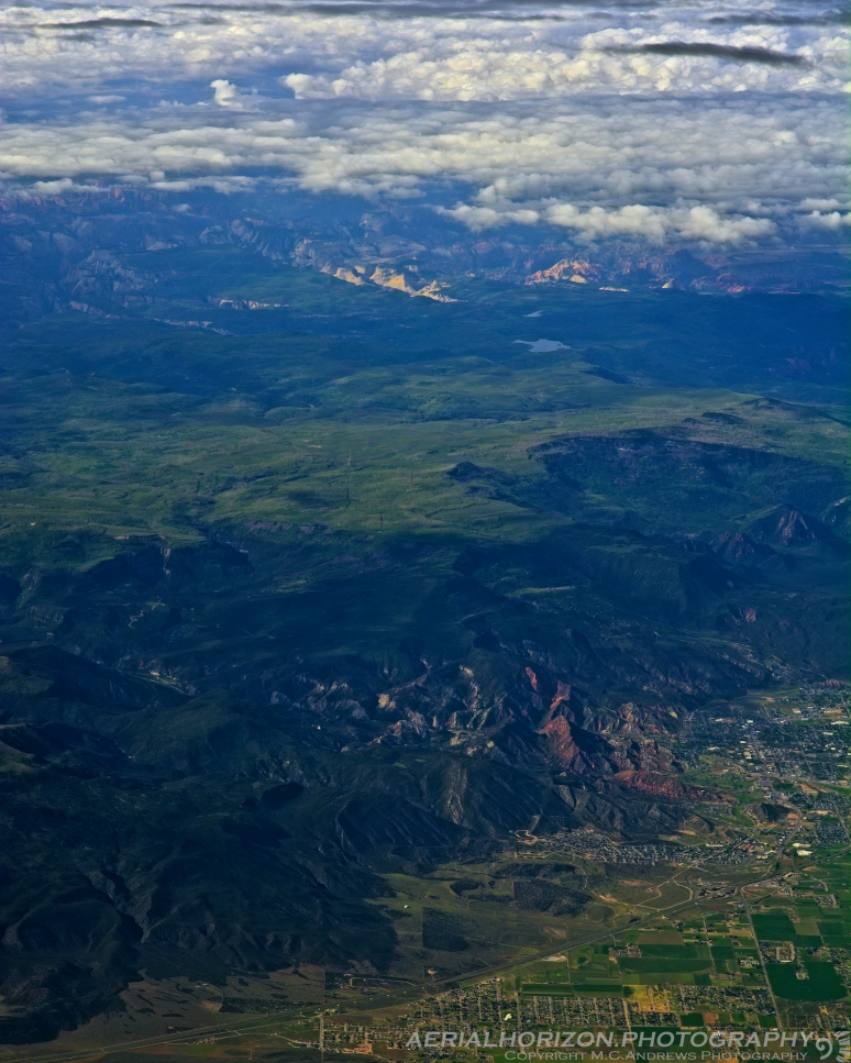 Cedar City and the Red Hill with Zion in distance
