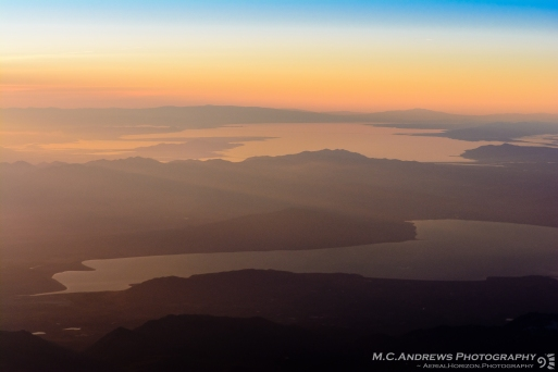 Lakes of the Great Basin in Sunset Haze